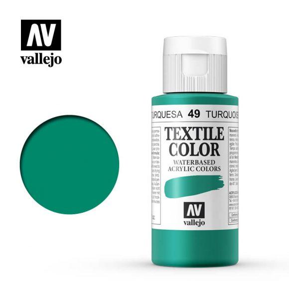 textile color vallejo turquoise 49 60ml