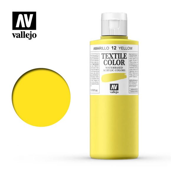 textile color vallejo yellow 12 200ml
