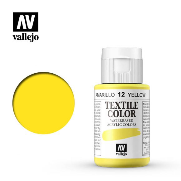 textile color vallejo yellow 12 35ml