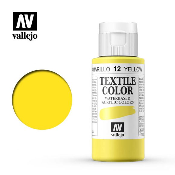 textile color vallejo yellow 12 60ml