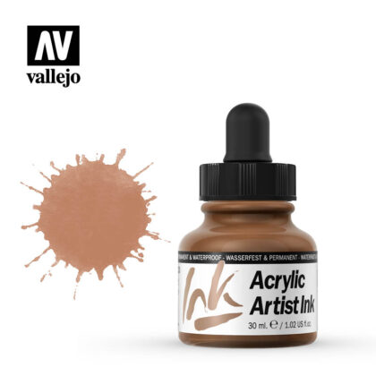 vallejo acrylic artist ink copper 60023