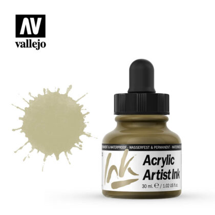 vallejo acrylic artist ink gold 60022