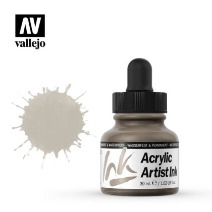 vallejo acrylic artist ink old silver 60021
