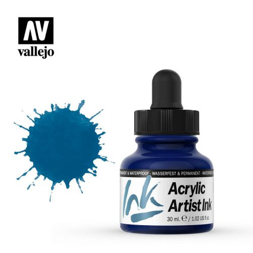 vallejo acrylic artist ink prussian blue 60008