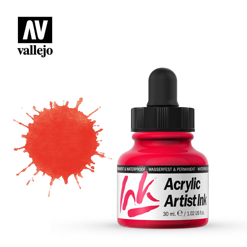 vallejo acrylic artist ink red 60004
