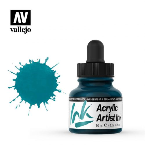 vallejo acrylic artist ink turquoise 60011