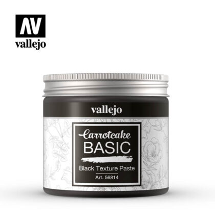 vallejo carrotcake basic black texture paste 56814