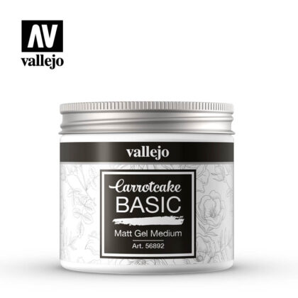 vallejo carrotcake basic matt gel medium 56892