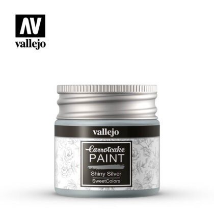 vallejo carrotcake paint shiny silver 56412