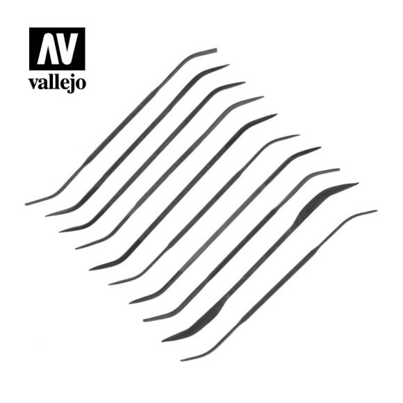 vallejo hobby tools set of 10 curved files T03003