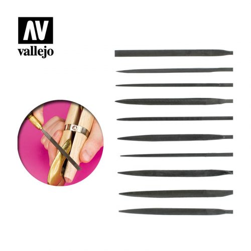 vallejo hobby tools set of 10 needle files T03001