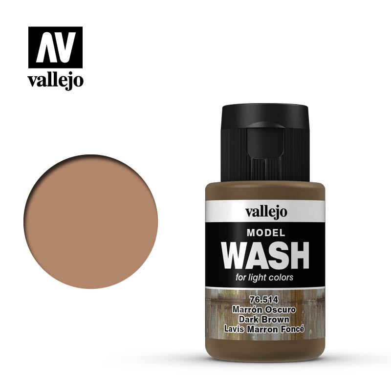vallejo model wash dark brown 76514