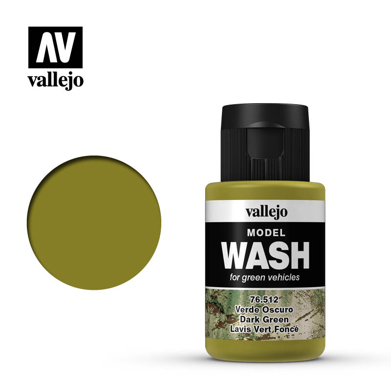 vallejo model wash dark green 76512