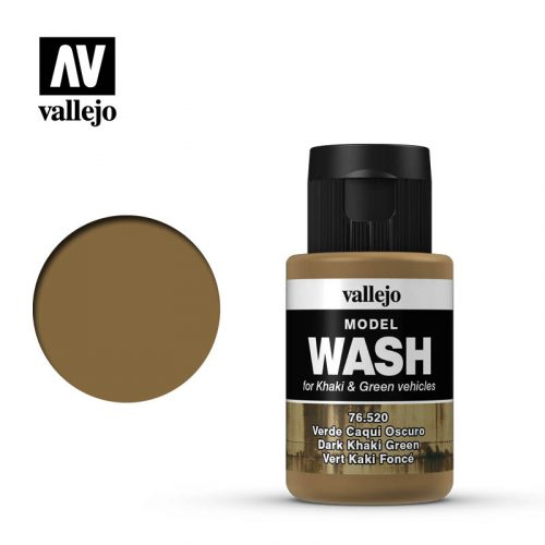 vallejo model wash dark khaki green 76520