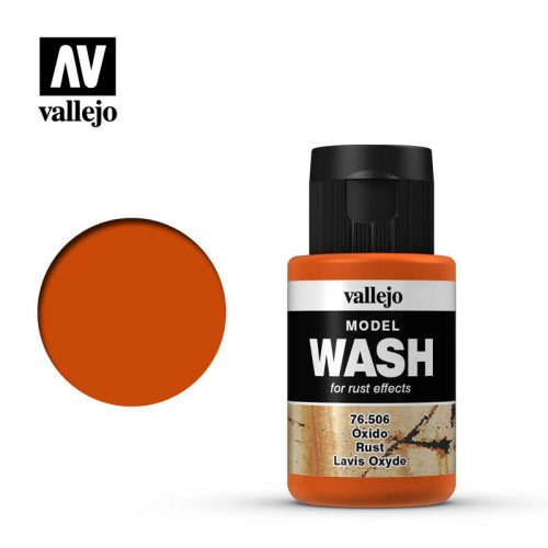 vallejo model wash dark rust 76506