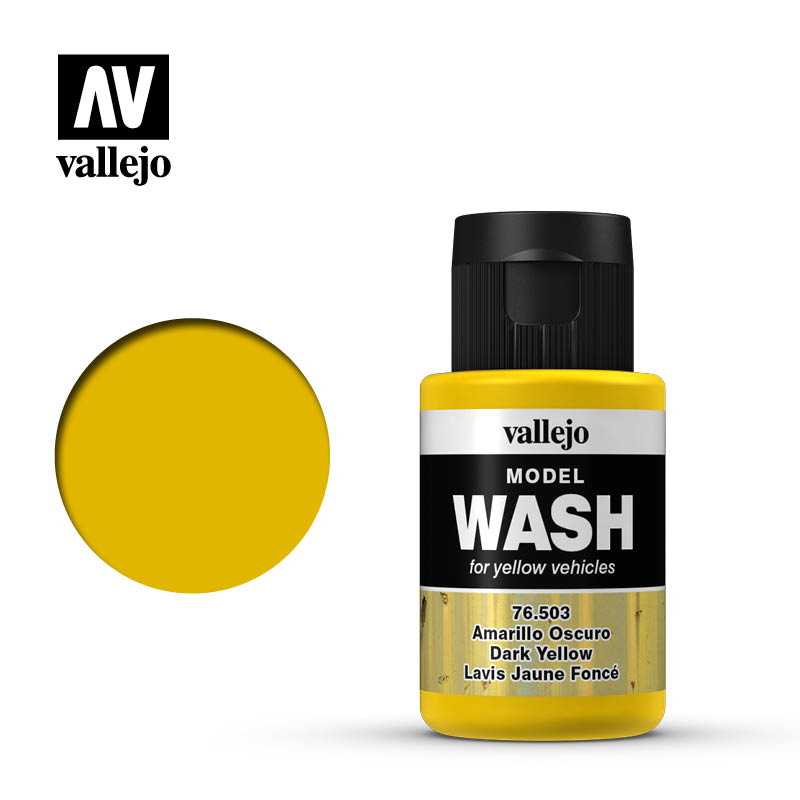 vallejo model wash dark yellow 76503
