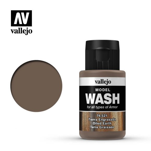 vallejo model wash oiled earth 76521