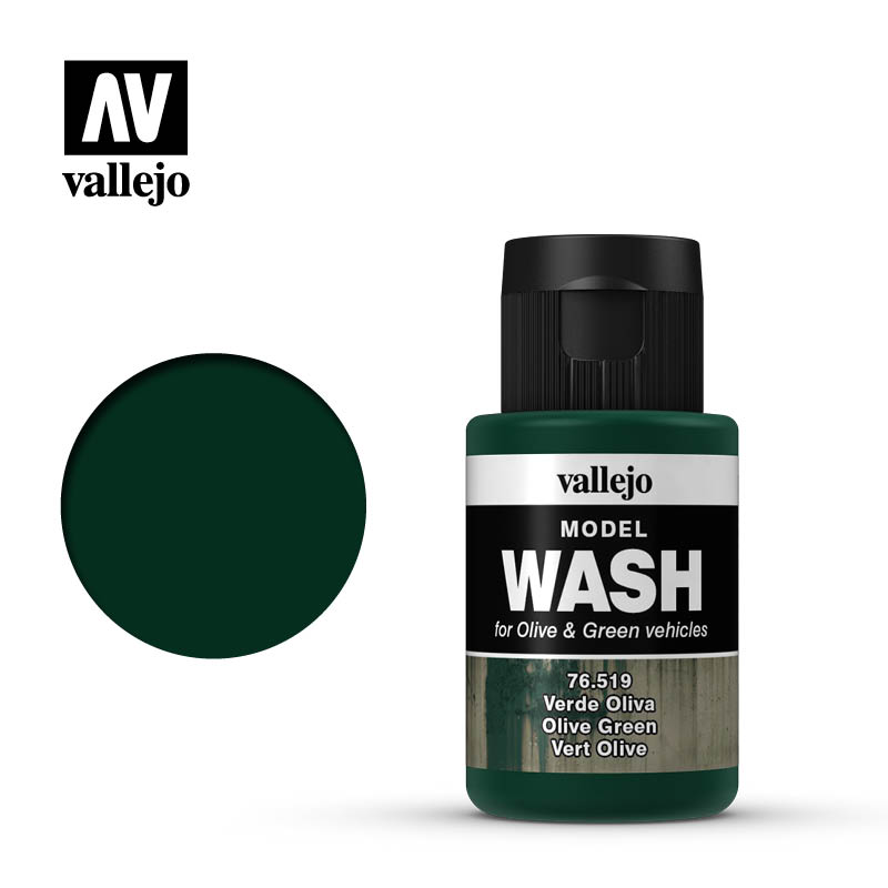 vallejo model wash olive green 76519