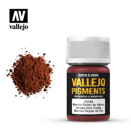 vallejo pigment brown iron oxide 73108