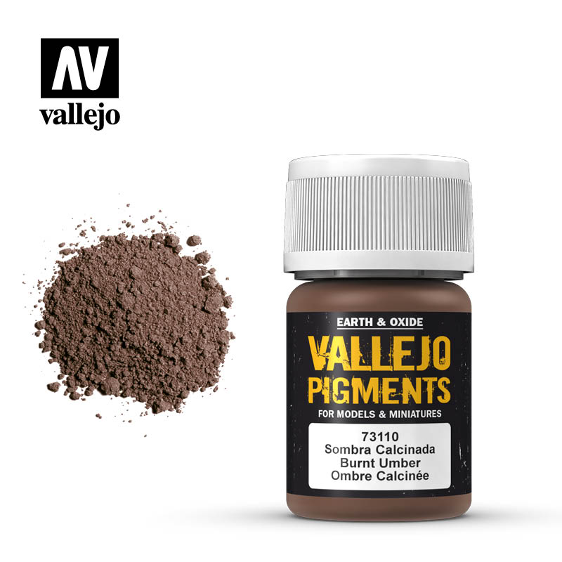 vallejo pigment burnt umber 73110