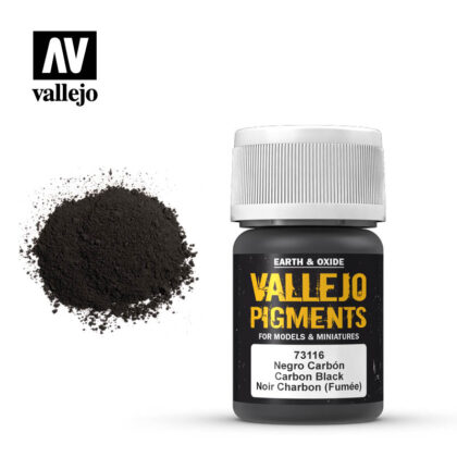 vallejo pigment carbon black smoke black 73116