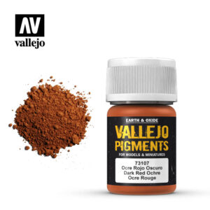 vallejo pigment dark red ochre 73107