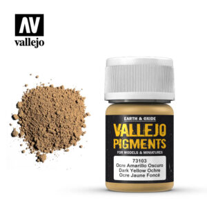vallejo pigment dark yellow ocre 73103