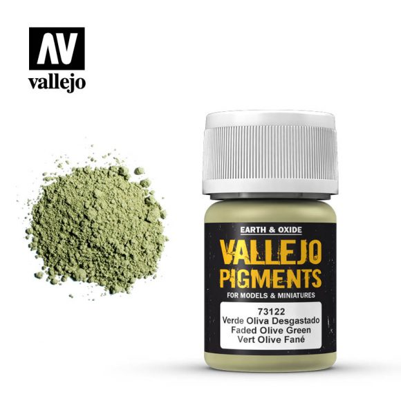vallejo pigment faded olive green 73122