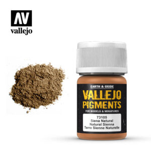 vallejo pigment natural sienna 73105