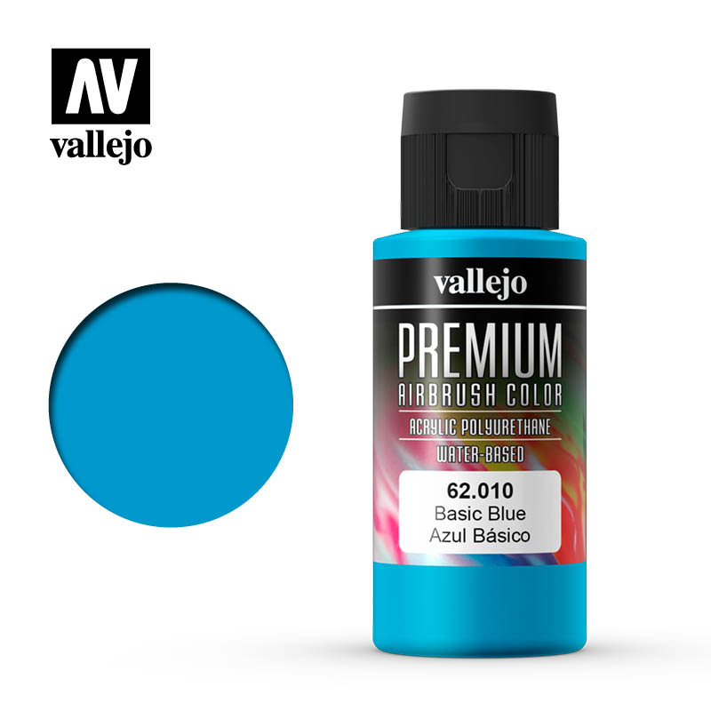 Premium Airbrush Color Vallejo Basic Blue 62010
