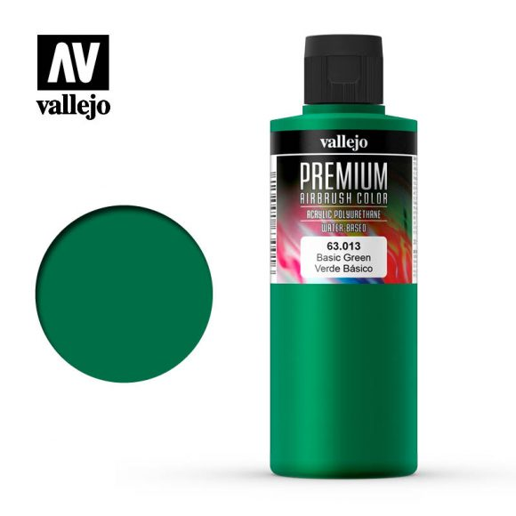 Premium Airbrush Color Vallejo Basic Green 62013