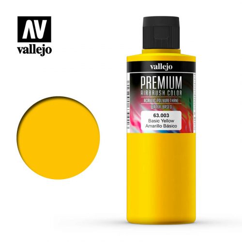 Premium Airbrush Color Vallejo Basic Yellow 62003