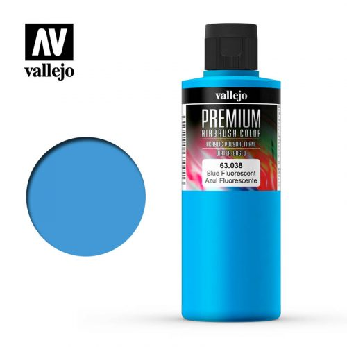 Premium Airbrush Color Vallejo Blue Fluorescent 62038