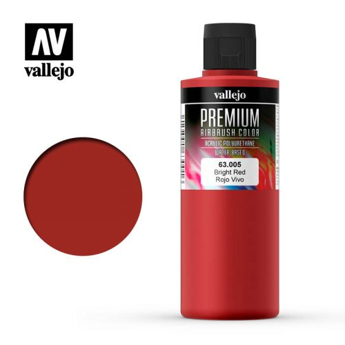 Premium Airbrush Color Vallejo Bright Red 62005