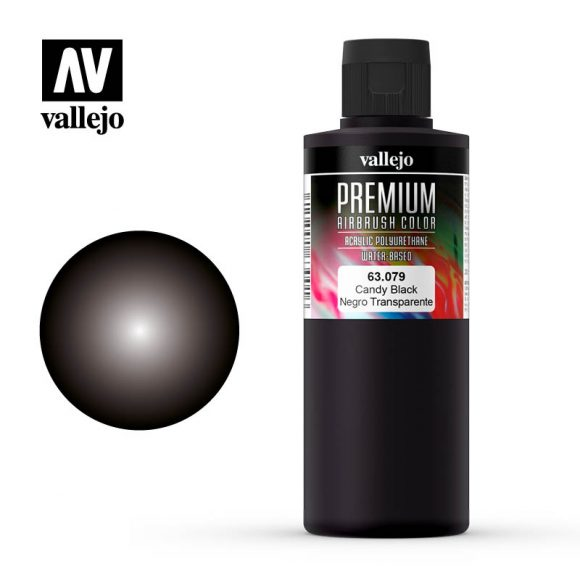 Premium Airbrush Color Vallejo Candy Black 62079
