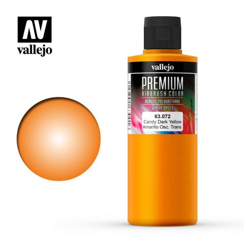 Premium Airbrush Color Vallejo Candy Dark Yellow 62072