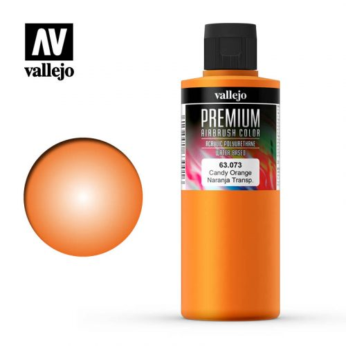Premium Airbrush Color Vallejo Candy Orange 62073