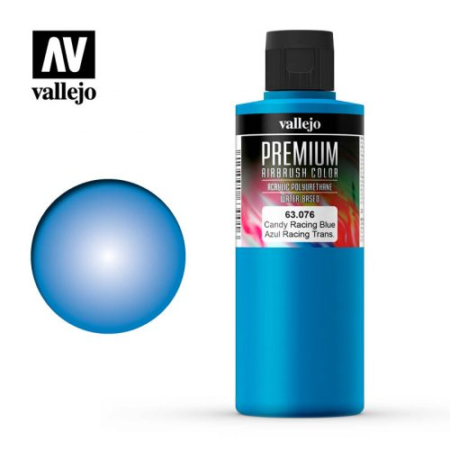 Premium Airbrush Color Vallejo Candy Rancing Blue 62076