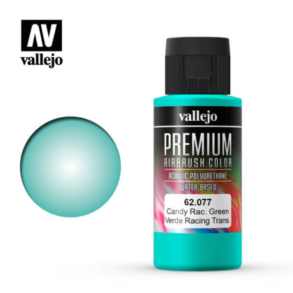 Premium Airbrush Color Vallejo Candy Racing Green 62077