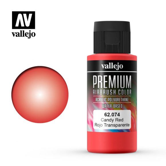 Premium Airbrush Color Vallejo Candy Red 62074