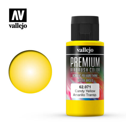 Premium Airbrush Color Vallejo Candy Yellow 62071