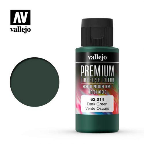 Premium Airbrush Color Vallejo Dark Green 62014