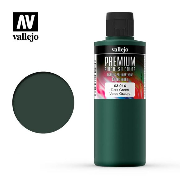 Premium Airbrush Color Vallejo Dark Green 62014