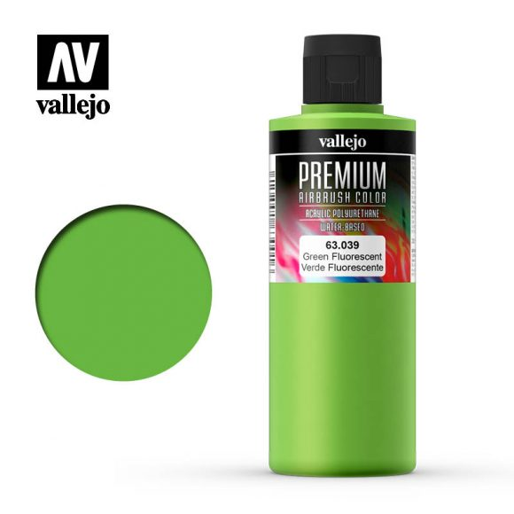 Premium Airbrush Color Vallejo Green Fluorescent 62039