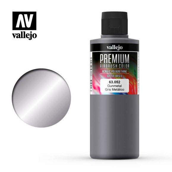 Premium Airbrush Color Vallejo Gunmetal 62052