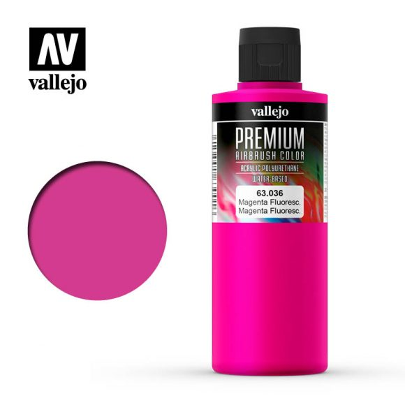 Premium Airbrush Color Vallejo Magenta Fluorescent 62036