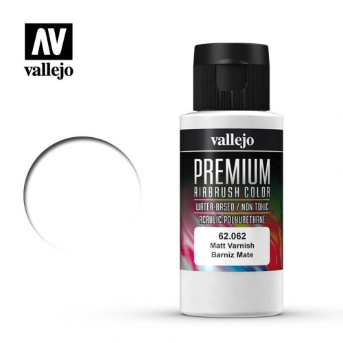 Premium Airbrush Color Vallejo Matt Varnish 62062