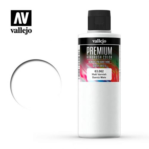 Premium Airbrush Color Vallejo Matt Varnish 62062