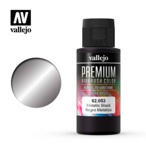 Premium Airbrush Color Vallejo Metallic Black 62053