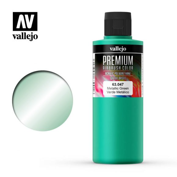 Premium Airbrush Color Vallejo Metallic Green 62047